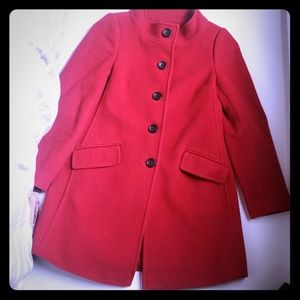 Ann Taylor Loft Red Peacoat